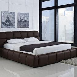 "Creative Furniture - ""Creative Furniture"" Ferrero Modern Chocolate Brown Eco-Leather Bed - Features:"