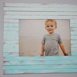 Large Ombré Wood-Planked Frame by Salty Kisses