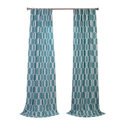 Tide Pools Printed Cotton Curtain