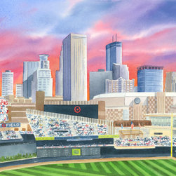 Murals Your Way - Target Field Wall Art - Painted by Deborah Ronglien, the Target Field wall mural from Murals Your Way will add a distinctive touch to any room