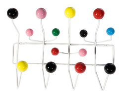 Modern Coat and Hat Rack, Hanger - Modern rack designed to hang your coat and hat.  Very sleek modern yet very playful and colorful.  Hang any of the following: