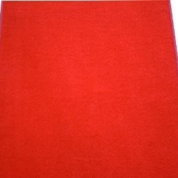 Dean Flooring Company - Dean Red Indoor-Outdoor Carpet Runner - Dean Red Carpet Runner - Indoor/Outdoor Wedding Aisle Boat Event Party Rug 3' x 25' : Indoor/Outdoor Area Rug/Carpet with Marine Backing by Dean Flooring Company. Face: 100% Hi UV stabilized polypropylene fiber. Backing: All weather non-skid latex rubber. Edges: Bound on all four sides with color matching binding tape. Fade resistant. Commercial or residential. Easy to clean (hose off, sweep, vacuum) Made in the U.S.A! Portable. Easy to fold or roll up. Great Price! Great for use under party/event/weddings, wedding aisles, tents and canopies. Also great for kitchens, bathrooms, decks, patios, yards, parks, picnics, rv's, camping and other outdoor uses! This rug is ideal for: pools, boat carpet, entrance ways, decks, patios, under grills, on docks, taking with you when traveling in your RV (roll it out at your door when you park), picnics, party tents, wedding tents, event tents, camping. Please note: The edges of this rug are bound with color matching binding tape. This product is manufactured and sold exclusively by Dean Flooring Company.