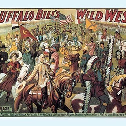 "Buyenlarge.com, Inc. - Buffalo Bill: the Maze - Paper Poster 12"" x 18"" - Another high quality vintage art reproduction by Buyenlarge. One of many rare and wonderful images brought forward in time. I hope they bring you pleasure each and every time you look at them."