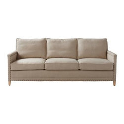 Serena & Lily - Spruce Street Sofa  upholstered w/ nailheads - Sophisticated but never stuffy, our Spruce Street Sofa has cosmopolitan appeal. The look is tailored and chic, with refined proportions that don't sacrifice comfort for style. Every last detail was considered, from the distance between each hand-applied nailhead to a just-right seat depth.