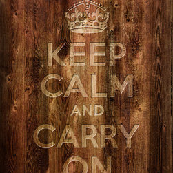 Keep Calm Collection - Keep Calm And Carry On, archival print (wood texture) - This item is an Art Print which means it is a higher-quality art reproduction than a typical poster. Art prints are usually printed on thicker paper, resulting in a high quality finish. This print is produced on a 270 gsm fine art paper stock.