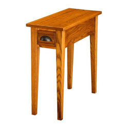 Bin Pull Oak 10 in. Chair Side End Table in Candleglow Finish