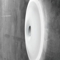 "Leucos - Planet 65 Wall Sconce / Ceiling Light - Product Details:     The Planet 65 Wall and Ceiling Light from Leucos is designed by the Leucos Design Team. Available in two sizes: Small - 48 and Large - 65, in a Satin white color with a Polished Chrome finish. UL Listed and ADA Compliant.  Details:                                Manufacturer:                            Leucos                                                            Designer:                            Leucos Design Group - 2008                                                Made in:                            Italy                                                Dimensions:                            Height: 25.5"" (65cm) X Width: 25.5"" (65cm)                                                              Light bulb:                                          Incandecent - 6 X 40W G9 Halogen              or               Fluorescent - 1 X 40W + 1 X 22W 2GX13 T5 Circleline                                                Material:                            metal, glass"