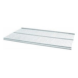SCHULTE DISTINCTIVE STORAGE - 1813123045 30 x 12 Nickel Ventilated Shelf - Freedomrail(r) ventilated shelving