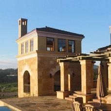 Mediterranean Exterior by Stephen Dalton Architects