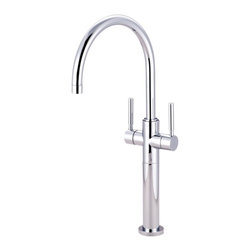 Kingston Brass - Kingston Brass Concord Polished Chrome Two Handle Vessel Sink Faucet KS8091DL - The double lever vessel sink faucet emits a sleek, simple design that coordinates well with any sink to choose from.  Its glamorous presence, as well as its functionality makes it a focal point in the bathroom.. Manufacturer: Kingston Brass. Model: KS8091DL. UPC: 663370065705. Product Name: Kingston Brass Concord Two Handle Vessel Sink Faucet. Collection / Series: Concord. Finish: Polished Chrome. Theme: Contemporary / Modern. Material: Brass. Type: Faucet. Features: Constructed from solid brass for durability and reliability