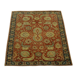 1800-Get-A-Rug - Oriental Rug Rust Red Antiqued Heriz Hand Knotted Rug Sh10163 - About Tribal & Geometric