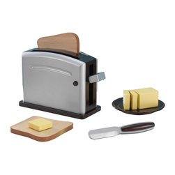 KidKraft - Espresso Toaster Set by Kidkraft - With our Espresso Toaster Set, young chefs will be making delicious pretend toast in no time. The wooden toaster is interactive and looks just like mom and dad's at home.