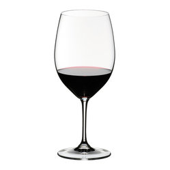 Crystal of America/Riedel - Riedel Vinum Cabernet Sauvignon/Merlot (Bordeaux) - Elegant stemware makes such a difference. This set of two lead-crystal wineglasses, designed for Cabernet Sauvignon/Merlot/Bordeaux, enhances the look of your table and your pleasure in the wine.