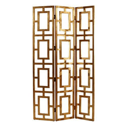 "Arteriors - Arteriors Home - Guilded Wood Open-Work Screen - 3268 - Arteriors Home - Guilded Wood Open-Work Screen - 3268 Features: Guilded Collection Work ScreenWood FinishThree panels Some Assembly Required. Dimensions: 16"" W X 80"" H"