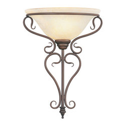 Livex Lighting - Livex Lighting 6182-58 Coronado 1-Light Wall Sconce in Imperial Bronze - This 1 light Wall Sconce from the Coronado collection by Livex will enhance your home with a perfect mix of form and function.