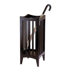 Winsome Wood - Winsome Wood Portland Umbrella Stand in Cappuccino - A perfect unit to drop off your umbrella in your hall way or mudroom. Sleek contemporary design makes this a great decor to any home. Assembly Required Umbrella Stand (1)