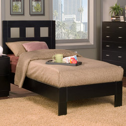 Alpine Furniture - Manhattan Twin Platform Bed - Manhattan Twin Platform Bed