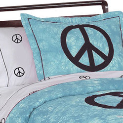 Blue Peace Pillow Sham
