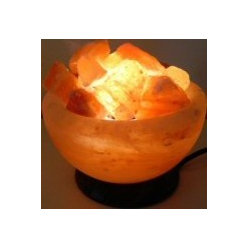 Himalayan Ionic Natural Salt Lamp Fire Bowl