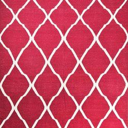 Modern Hand Woven Dhurrie Rug Pure Wool Trellis Design Red - A brand new very beautiful Modern design hand woven dhurrie.