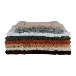 HomeSource - Cotton Non-slip Rug Large, White - Our 100% Egyptain soft cotton woven bath rugs feature unmatched quality, texture and absorbency. It provides a non-slip backing for security and is great for marble flooring.