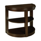 Standard Furniture - Standard Furniture Spencer Half Moon Chair Side Table in Cherry - Spencer Tables have clean transitional styling and smoothly rounded shapes to fit in perfectly with today's sophisticated yet relaxed lifestyle.