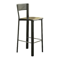 Allegro Barstool - The unexpected leather finish for these barstool is sleek and really chic without being too over-the-top.