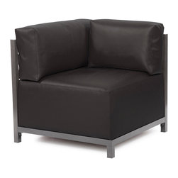 Howard Elliott - Howard Elliott Atlantis Black Axis Corner Chair Slipcover - Axis corner chair Atlantis black slipcover