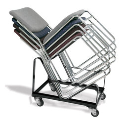 National Public Seating - National Public Seating Dolly for 8600 Chair Transport Storage Accessories - Store and transport an entire room of chairs on NPS's Dolly for 8600 Series Stack Chair. This steel chair cart is designed to hold up to 20 chairs at an angle to maximize your storage space. Move it around your school or facility on three-inch casters (two swivel, two fixed).