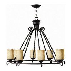 Hinkley Lighting - Hinkley Lighting 4308OL Casa Olde Black 8 Light Chandelier - Hinkley Lighting 4308OL Casa Olde Black 8 Light Chandelier