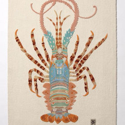 Spiny Lobster Rug-Anthropologie.com - Rock Lobster! This rug is probably only for very specific spots in very specific homes, but so what, it's too too darling, and it makes the B52s go through my head.    * Wool; cotton backing    * Professionally clean    * 5' x 7'    * Imported       $498.00