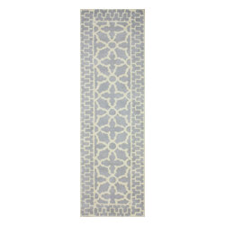 """nuLOOM - Contemporary 2' 6"""" x 8' Grey Hand Tufted Area Rug Trellis VS79 - Made from the finest materials in the world and with the uttermost care, our rugs are a great addition to your home."""