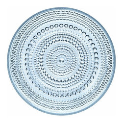 Iittala - Kastehelmi Small Plate Light Blue - A classic pattern — in production from 1964 to 1988 — is back to beautify your table. Concentric rings of glass dewdrops form the graceful pattern to enhance the appeal of any meal.