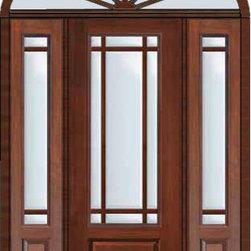 Prehung Patio Side Lights Transom Door 96 Marginal 9 Lite