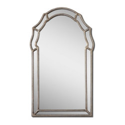 Uttermost - Antiqued Silver Leaf Petrizzi Arched Mirror - Antiqued Silver Leaf Petrizzi Arched Mirror