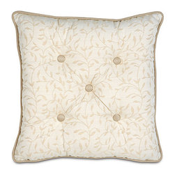 Frontgate - Hayes Blossom Tufted Pillow - Compliments the Brookfield Bedding Collection. Because this bedding is specially made to order, please allow 4-6 weeks for delivery.