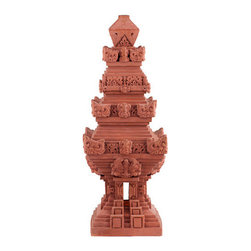 Brilliant Imports - Candi {Temple} - These terra-cotta Candis (Temples) from Java can be gently placed outside.  Temples & shrines (used for offerings many times throughout the day) are a sacred but everyday sight in Bali. What might you offer?