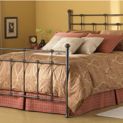 """FBG - Dexter Metal Bed - Basic and versatile, this classic design will complement a variety of decorative styles. Features: -Hammered Brown finish.-Powder Coated Finish: Yes.-Gloss Finish: No.-Finish: Hammered Brown.-Frame Material: Metal.-Upholstered: No.-Number of Items Included: 1 Headboard, 1 Footboard, 1 Bed Frame.-Hardware Material: Metal.-Non Toxic: Yes.-Scratch Resistant: No.-Mattress Included: No.-Box Spring Required: Yes -Boxspring Included: No..-Headboard Storage: No.-Footboard Storage: No.-Underbed Storage: No.-Slats Required: No.-Center Support Legs (Size: California King): Yes.-Center Support Legs (Size: Full): No.-Center Support Legs (Size: King): Yes.-Center Support Legs (Size: Queen): Yes.-Center Support Legs (Size: Twin): No.-Adjustable Headboard Height: No.-Adjustable Footboard Height: No.-Wingback: No.-Trundle Bed Included: No.-Attached Nightstand: No.-Cable Management: No.-Built in Outlets: No.-Lighted Headboard: No.-Finished Back: Yes.-Reclaimed Wood: No.-Number of Center Support Legs (Size: California King): 2.-Number of Center Support Legs (Size: Full): 0.-Number of Center Support Legs (Size: King): 2.-Number of Center Support Legs (Size: Queen): 2.-Number of Center Support Legs (Size: Twin): 0.-Distressed: Yes.-Bed Rails Included: Yes.-Collection: Metal.-Eco-Friendly: No.-Recycled Content: No.-Wood Moldings: No.-Canopy Frame: No.-Hidden Storage: No.-Jewelry Compartment: No.-Weight Capacity: 750 lbs.-Swatch Available: No.-Commercial Use: No.-Product Care: Wipe with a clean, damp cloth.Specifications: -FSC Certified: No.-EPP Compliant: No.-CPSIA or CPSC Compliant: No.-CARB Compliant: No.-JPMA Certified: No.-ASTM Certified: No.-ISTA 3A Certified: No.-PEFC Certified: No.-General Conformity Certificate: No.-Green Guard Certified: No.Dimensions: -Overall Height - Top to Bottom (Size: California King): 56"""".-Overall Height - Top to Bottom (Size: Full): 56"""".-Overall Height - Top to Bottom (Size: King): 56"""".-Overall Height - Top to Bottom (Size: Queen"""