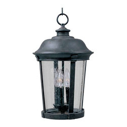 Maxim Lighting - Maxim Dover Cast 3-Light Outdoor Hanging Lantern Bronze - 3028CDBZ - Dover Cast is a traditional, Mediterranean style collection from Maxim Lighting Interior in Bronze finish with Seedy glass.