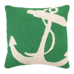 PHI - PHI Anchor Hook Pillow-White - White Anchor Hook Pillow by PHI. 100% Wool & Cotton.