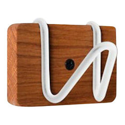 Strand Design - White Coat Hook - This organization hook is the perfect design for any small space! Use it in your bedroom, bathroom or living room. This hook is perfect for any home or apartment design!