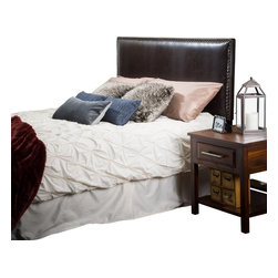 Great Deal Furniture - Westin King-to-Cal King Adjustable Leather Headboard, Brown - The Westin headboard is a great piece to add elegance to your bedroom. You can spruce up the look of any king or California king sized bed with this headboard.