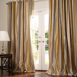 Client Photos - Striped Silk Dupioni Custom Drapery in Veranda 9.