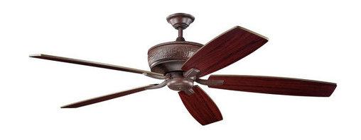 "Kichler - Kichler 300106TZ Monarch 70"" Indoor Ceiling Fan 5 Blades - Remote, 8"" Do - Kichler 300106 Monarch Ceiling Fan"
