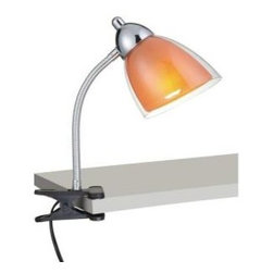 Illumine - Desk Lamps: Designer Collection 12 in. Chrome Desk Lamp with Orange Acrylic Shad - Shop for Lighting & Fans at The Home Depot. This 1-Light Desk and Task Light, part of the Designer Collection, offers a trendy solution that is sure to satisfy all your lighting needs. This Desk and Task-Light combines unique styling and excellent quality to create the perfect blend that will exceed your expectations. Combining a Chrome Finish with Orange Acrylic Shade, this functional yet stylish fixture will add a renewing element in various decor settings.