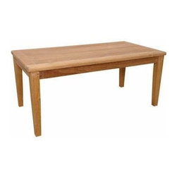 Anderson Teak - Brianna Rectangular Coffee Table - The Brianna Rectangular Coffee Table is the perfect addition for your Patio. This rectangular table is simple, straightforward and sturdy. Strong enough to sit on, perfect for snack or functional table. Can be accompany with any Brianna Deep Seating collections as well as with other Brianna Collections.