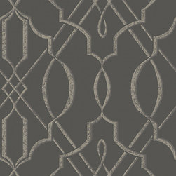Walls Republic - Arabesque Design Wallpaper, Grey, Double Roll - The pattern is influenced by traditional Arabesque design with contemporary twists. With its neutral colour palette, it can be matched with almost any pieces of furniture.