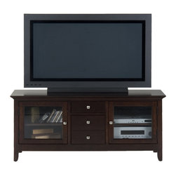 Jofran - Jofran 040-9 Fresno Merlot TV Cabinet - The simplicity and elegance, style and practicality - these are the main theses of occasional tables by Jofran inc. Among the great variety of collections you can choose the one that best suits your apartment, and that is to your liking. This Fresno merlot media unit belongs to 040 series - Fresno merlot collection by Jofran inc. The classic formulas of color combinations are not valid in Jofran furniture territory: here is ruled by laws solely of your own preferences and fantasies. Huge selection of colors in combination with a wide choice of shapes and sizes allow you to find among this variety precisely the furniture you've always wanted to see in your home. Jofran furniture offers high quality, casual furniture pieces that are constructed from premium Asian hardwoods, and finished with beautiful veneers. Durable materials and quality assembly will help your furniture to serve for many years and will not let you be disappointed in your choice.