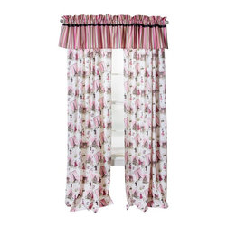Trend Lab - Waverly Baby Tres Chic Window Drape - 71014 - Shop for Curtains and Drapes from Hayneedle.com! The Trend Lab Waverly Tres Chic Window Drape will bring a sense of Parisian style to your baby's nursery. It's a rod pocket style curtain that fits easily over a standard curtain rod. This single drape panel is 42 inches wide and can be paired with a second panel to cover a standard size window. Its charming Tres Chic print features the Eiffel Tower fashion sketches and posh lifestyle icons. It coordinates specifically with the Tres Chic Window Valance (sold separately) which features a variegated striped print in the feminine color palette of pearled ivory seashell and honeysuckle pink moss green quarry gray and raven black. Coordinating Tres Chic crib bumpers bedding and nursery accessories are sold separately.About WaverlyWaverly launched in 1923 and grew to be a premier home fashion and all-encompassing lifestyle brand. They're now one of the most recognized names in home furnishings. With a signature look that's expertly translated into countless classic styles among home furnishing products their assortment includes wall coverings paint bedding window treatments decorative accessories and other key products.