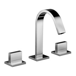 WS Bath Collections - Level Three Hole Washbasin Faucet without Was - Finish: Matte ChromeThree Hole Washbasin Mixer without Waste. Made in Italy. Finish/Color: Polished Chrome. Height: 7.8 inches. Spout Reach: 5.4 inches. Spout Height: 4.3 inches